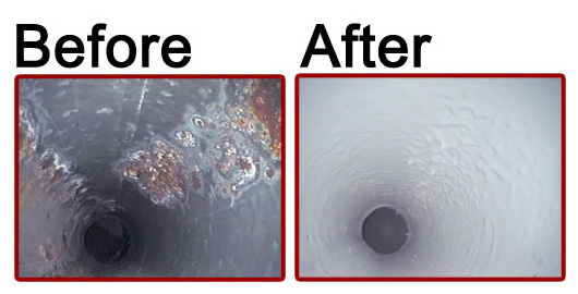 Duct Coating - Before & After
